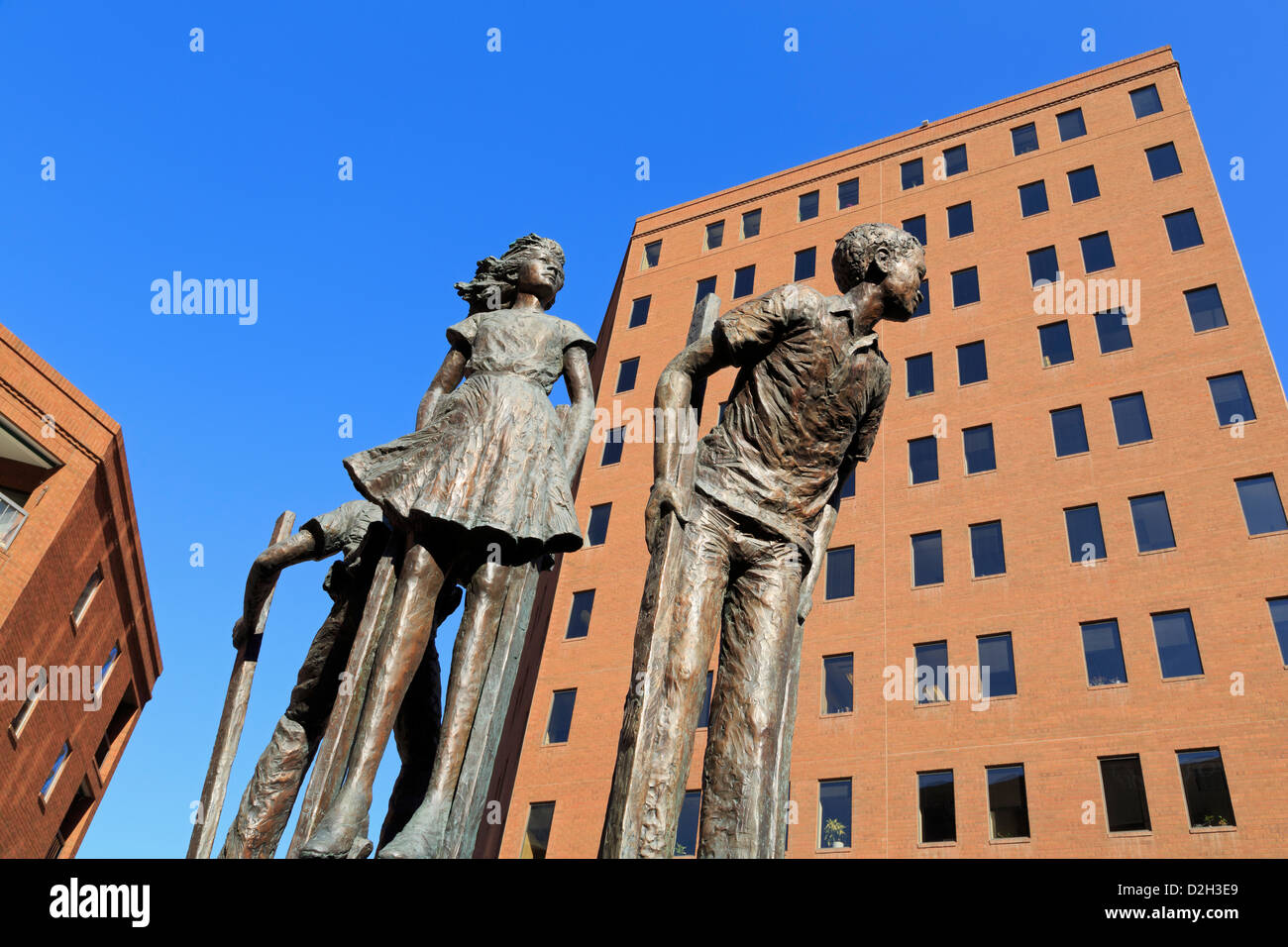 Stilt Walkers by Dennis Smith on Writers Square,16th Street Mall,Denver,Colorado,USA - Stock Image