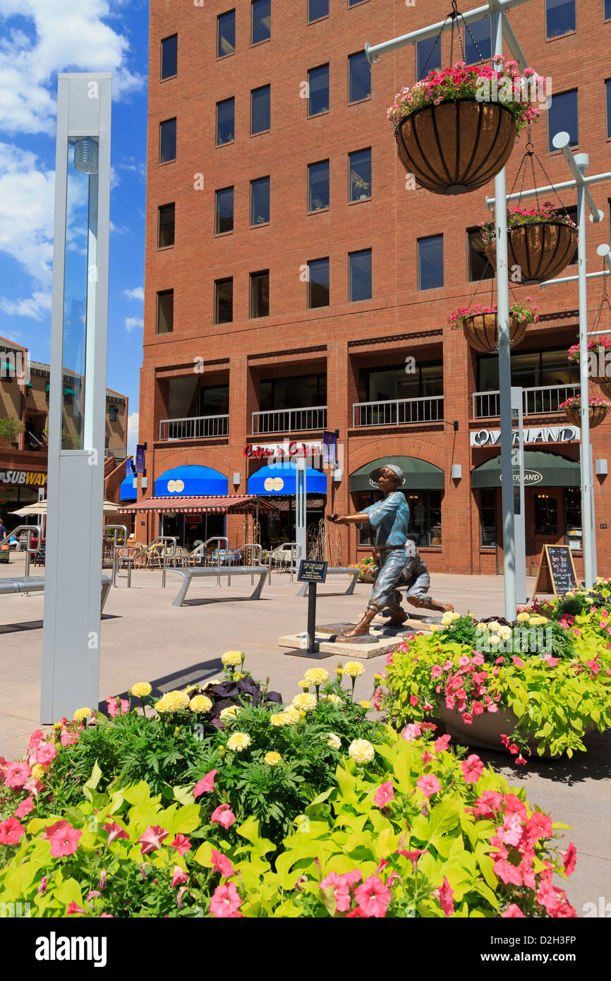 Writers Square on 16th Street Mall,Denver,Colorado,USA - Stock Image