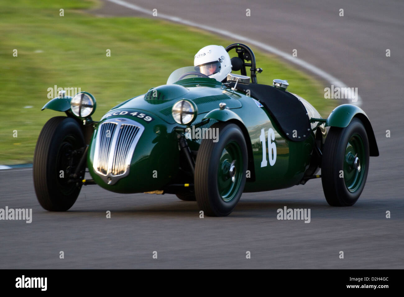 Frazer Nash Le Mans Replica at the Goodwood Revival 2012 – Freddie March Trophy Race - Stock Image