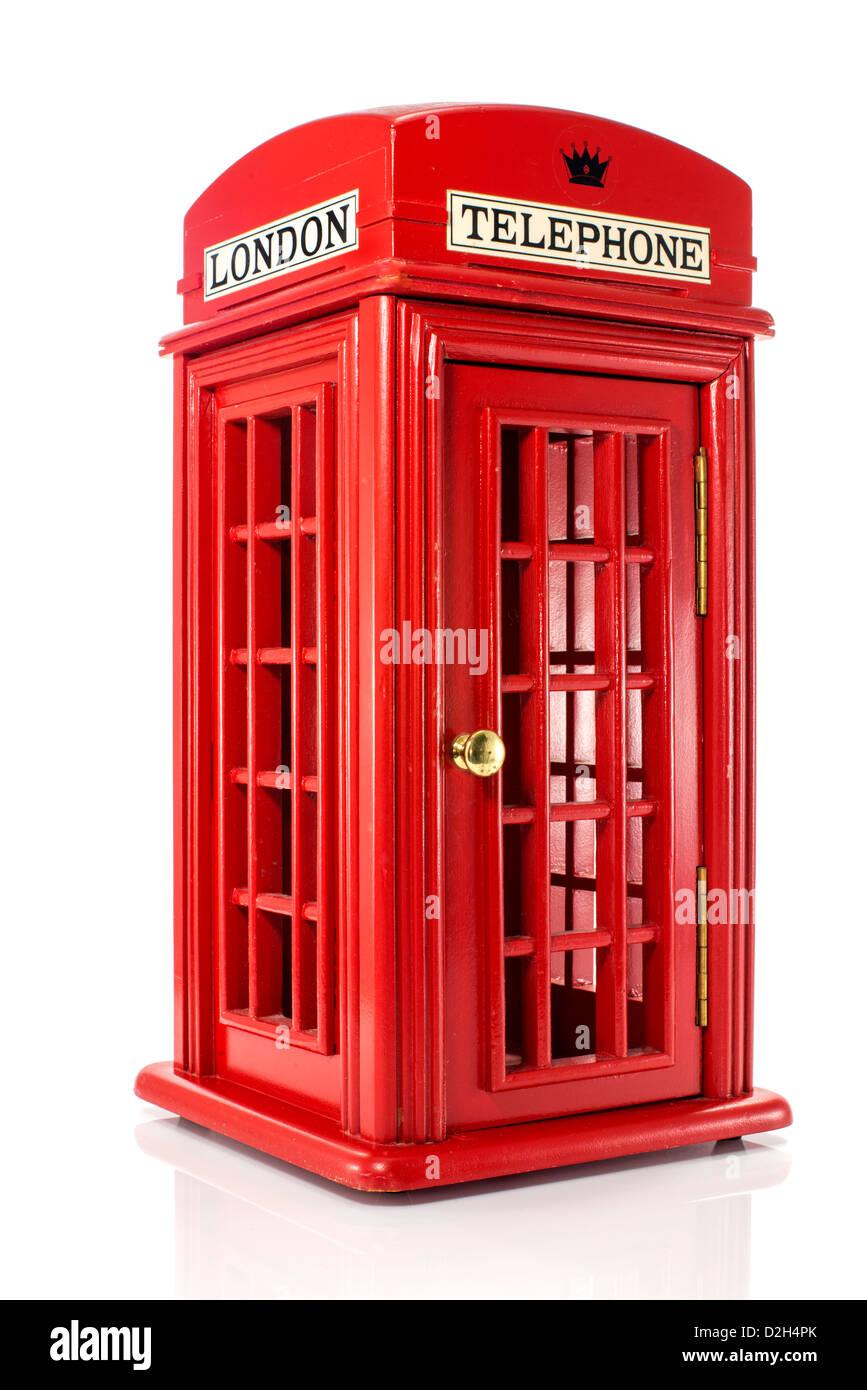model of red english london telephone - Stock Image