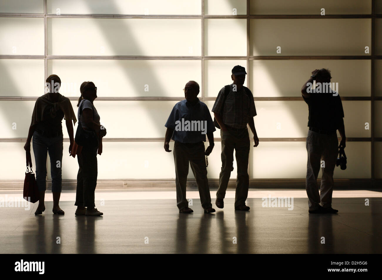 Berlin, Germany, several people silhouettes - Stock Image