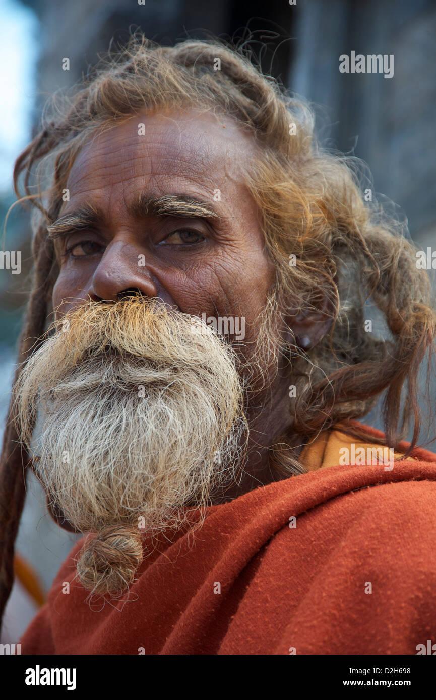money,fake sadhu - Stock Image
