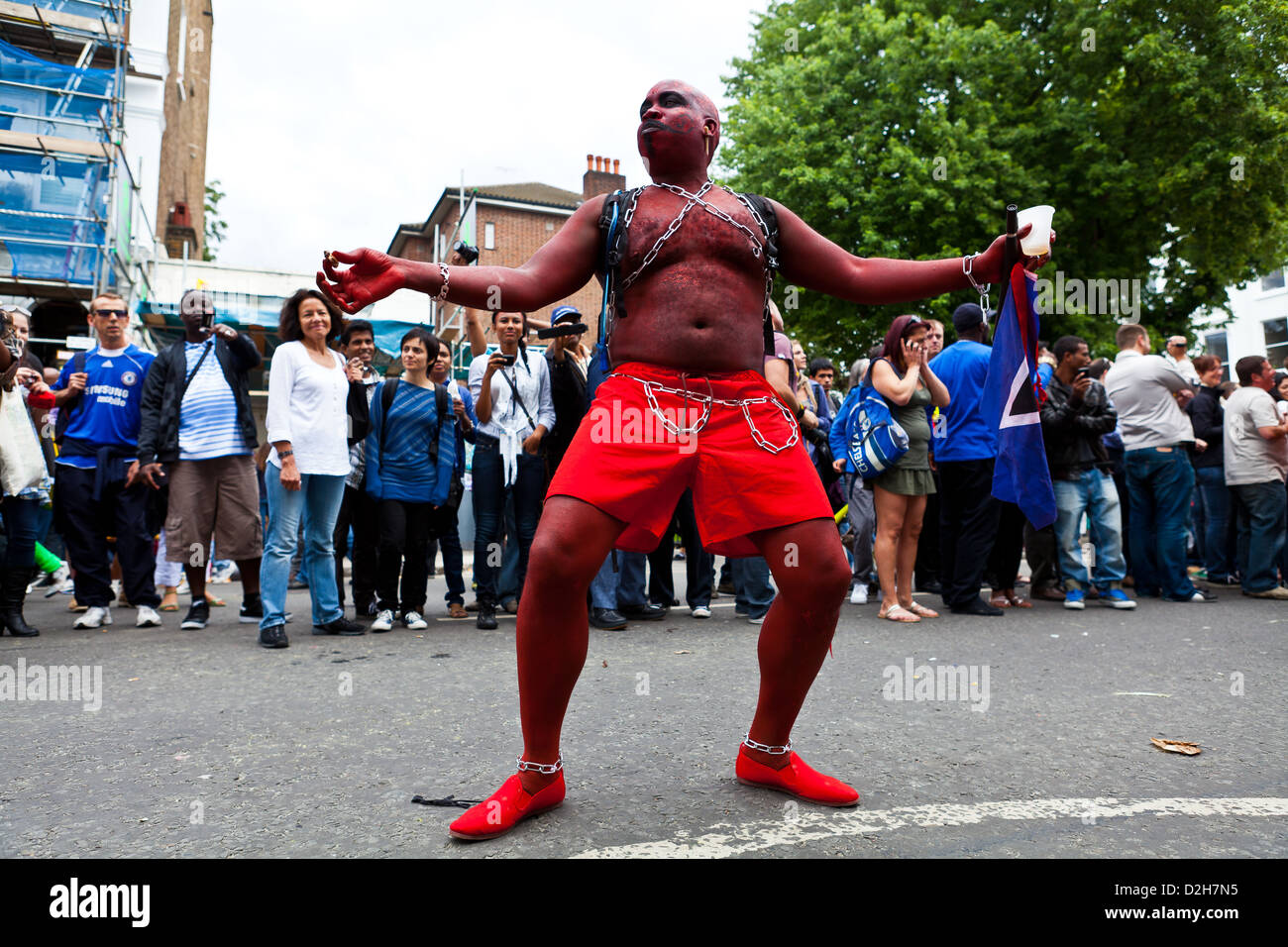 Performer at Notting Hill Carnival 2011 - Stock Image