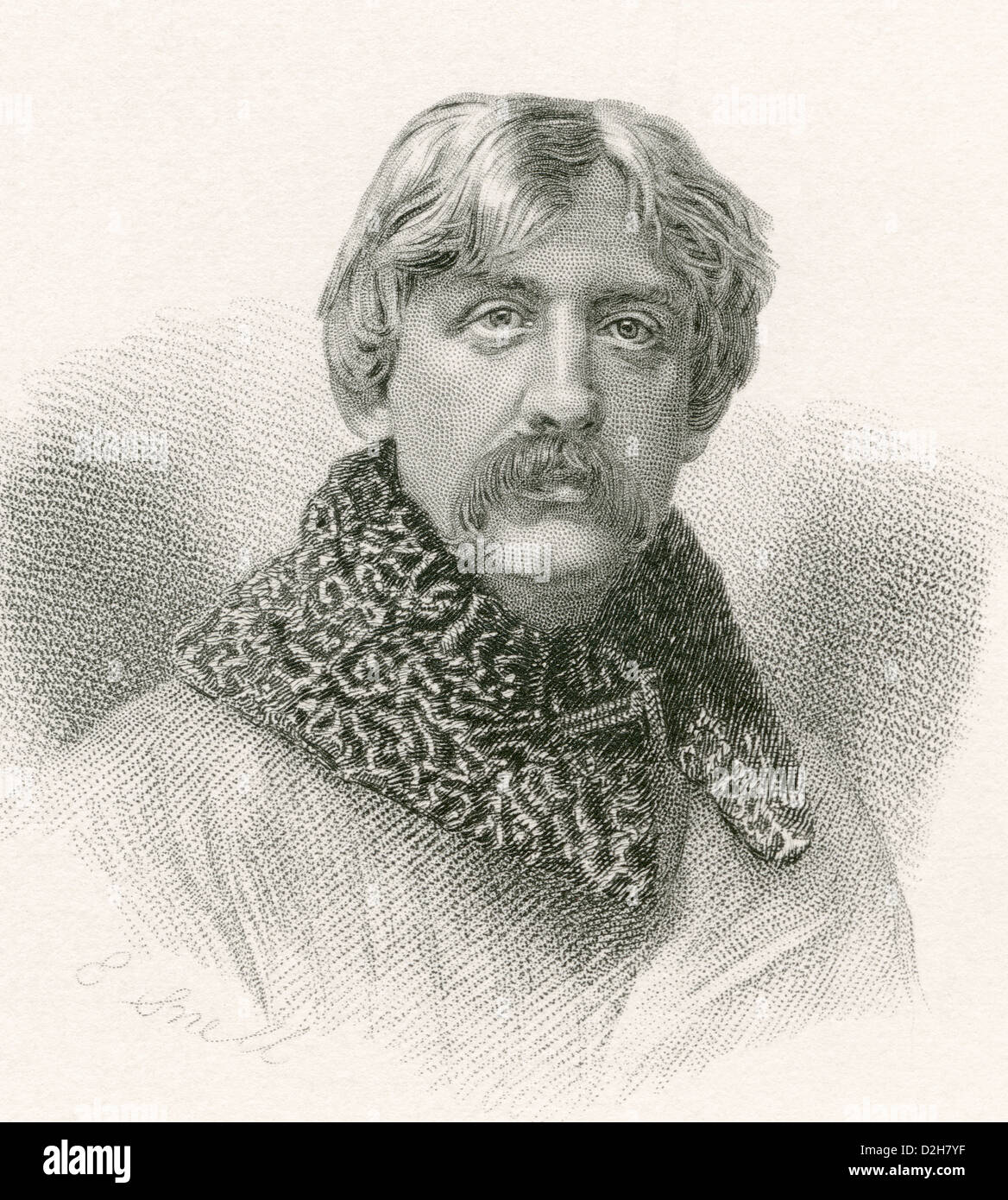 Francis Bret Harte, 1836 -1902. American author and poet. - Stock Image