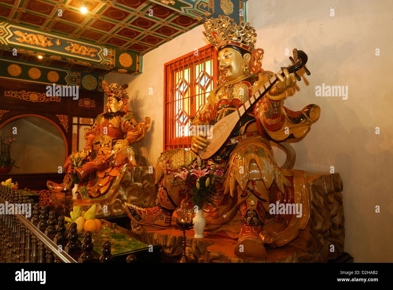 Hall of Skanda Bodhisattva, Po Lin Monastery, located on Ngong Ping Plateau, Lantau Island Hong Kong China. - Stock Image