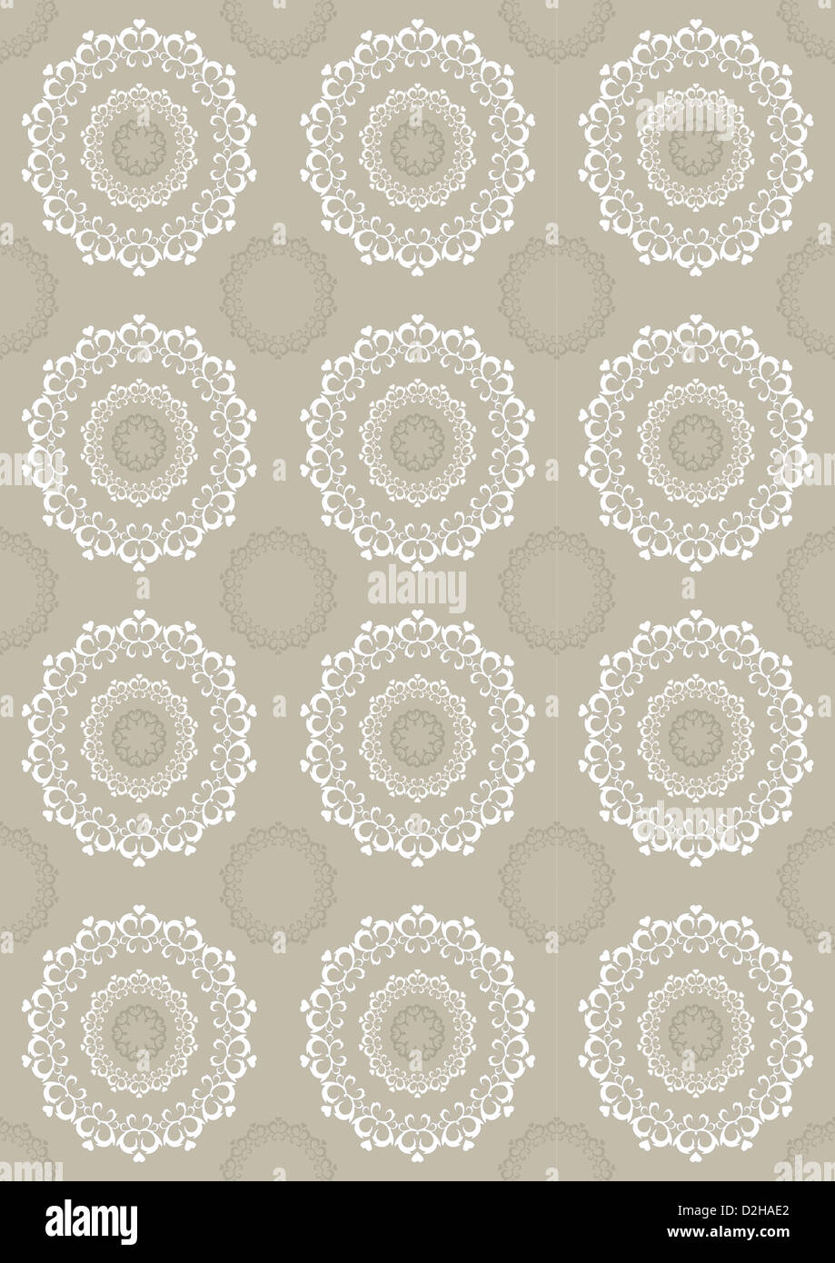 Light beige background with openwork circles - Stock Image