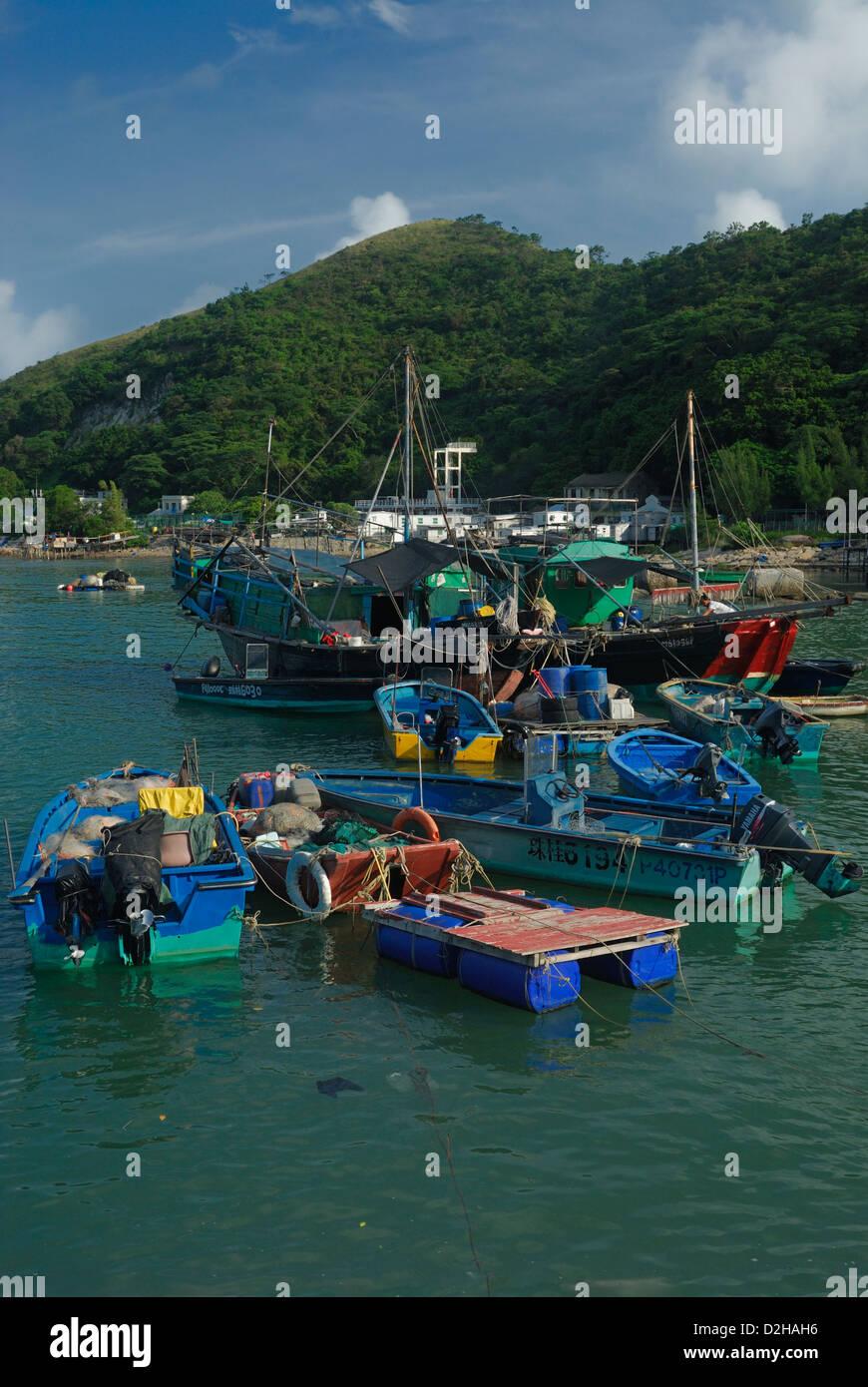 Tai O harbour Lantau Island Hong Kong China. - Stock Image