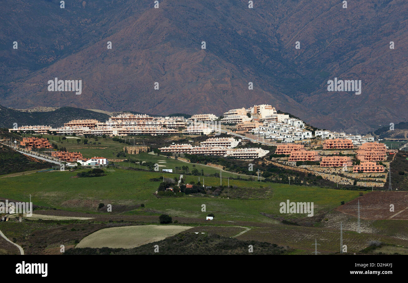 Urbanisation at the Costa del Sol, Andalusia, Spain - Stock Image