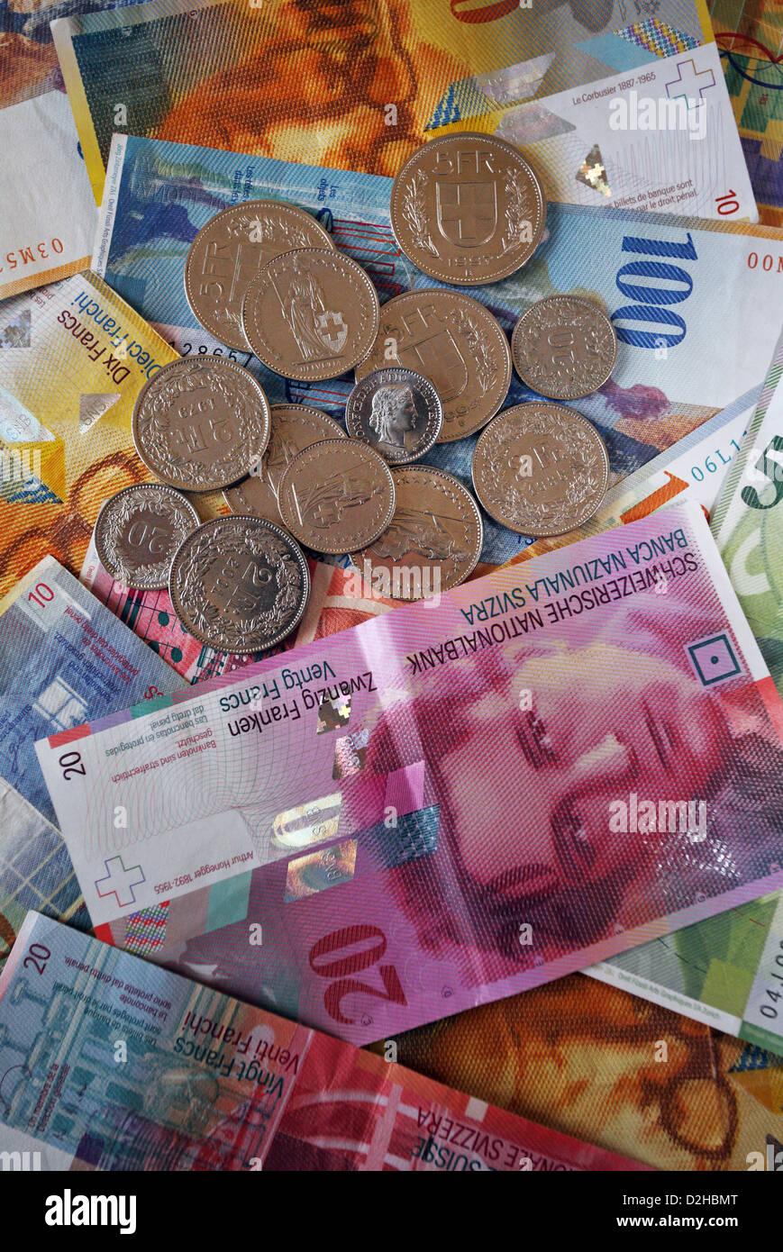 Berlin, Germany, Swiss Franc - Stock Image