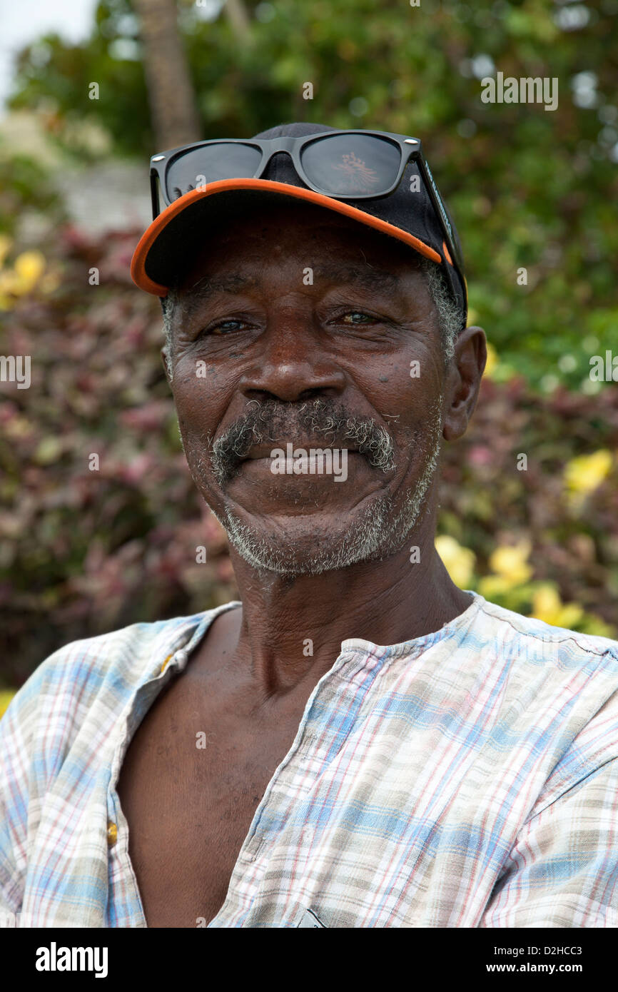 Portrait of local man from St Lucia, - Stock Image