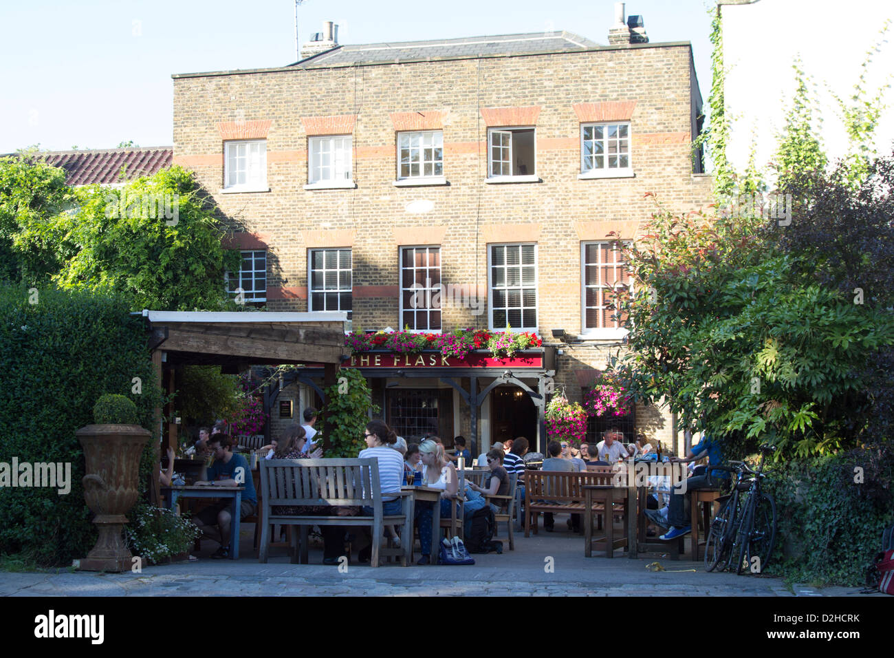 The Flask Pub - Highgate Village - London - Stock Image