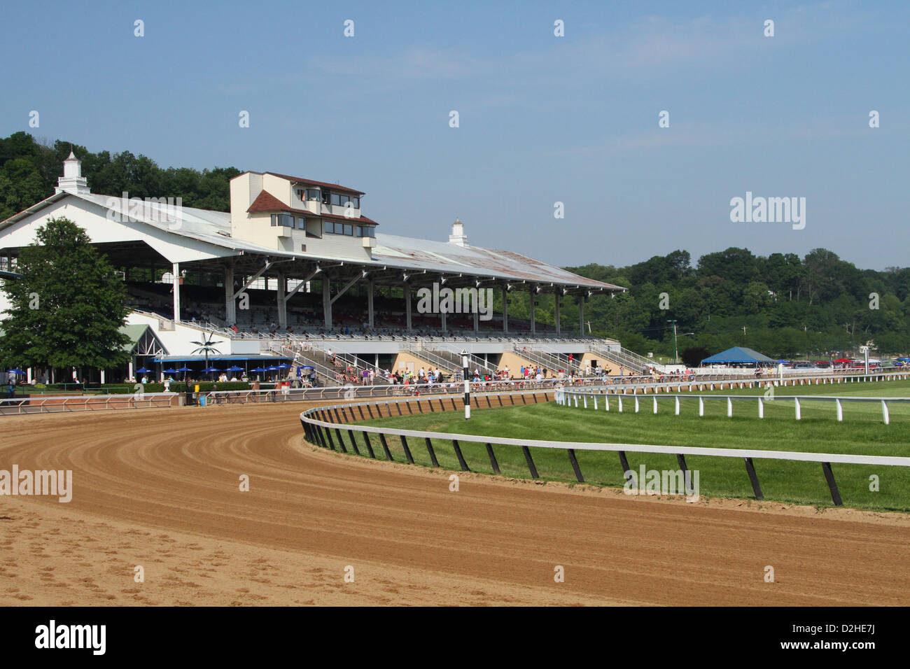 Horse Race track at River Downs, Cincinnati, Ohio, USA. - Stock Image