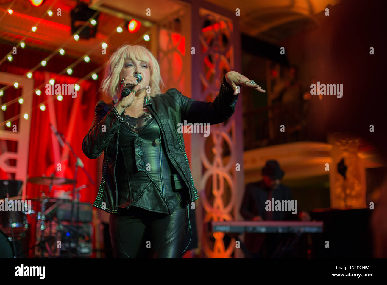 Monday, January 21st, 2013, Cindi Lauper performs her greatest hits at the Out for Equality Ball 2013. - Stock Image