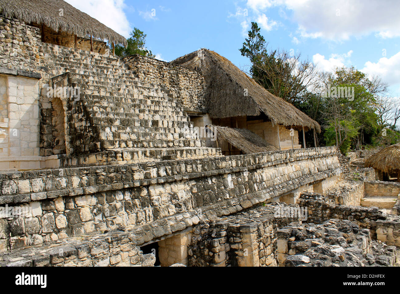 Maya ruins in Yucatan, Mexico - Stock Image
