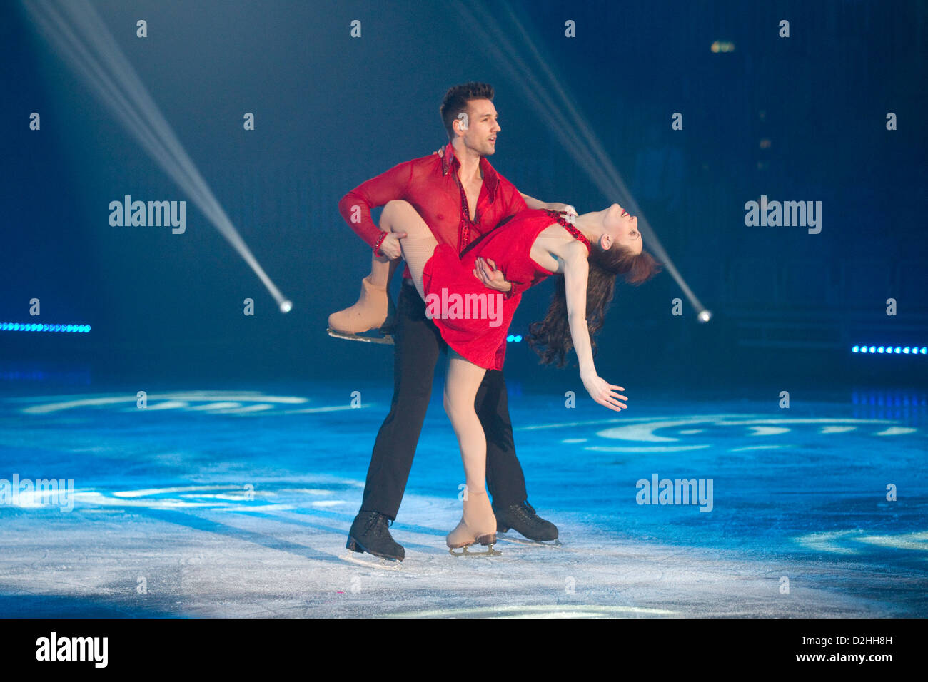 Celebrities on Ice show Member of the Russian Ice Stars - Stock Image