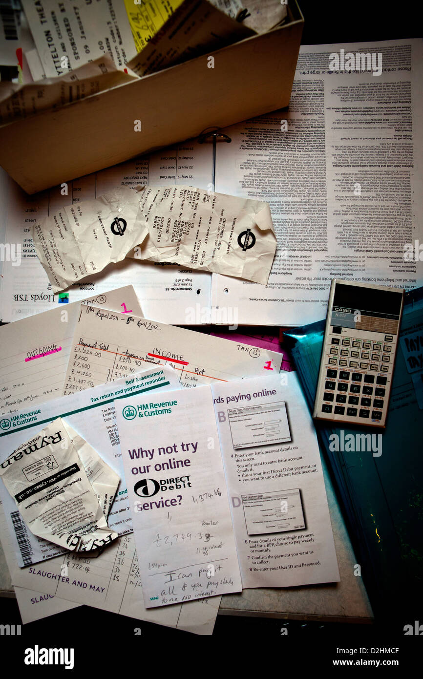 Tax return and personal finance - Stock Image