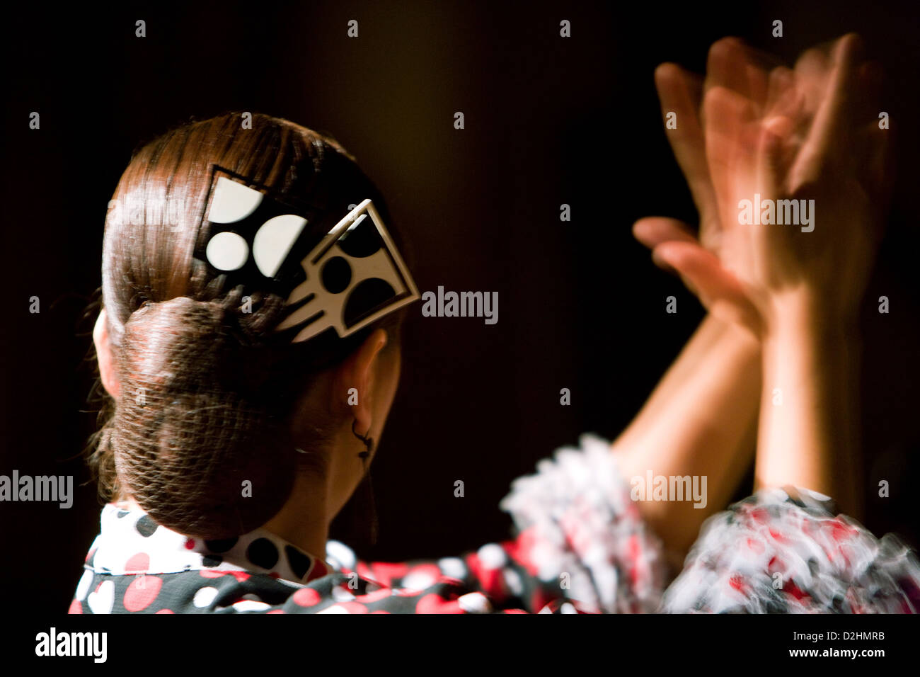 Spain, Barcelona, a Flamenco exhibition in the Tablao de Carmen Stock Photo