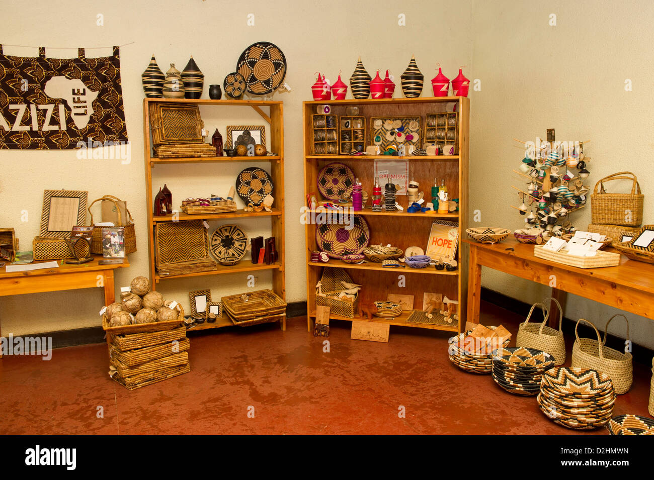 Azizi Life, handicrafts for sale, Muhanga, Rwanda Stock Photo
