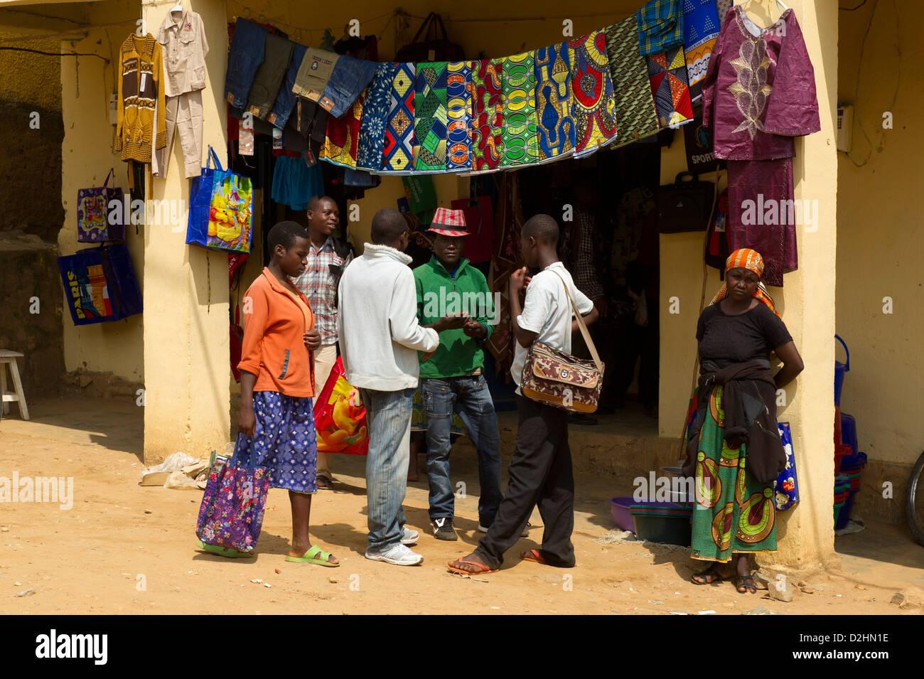 Shop, Ngororero, Rwanda - Stock Image