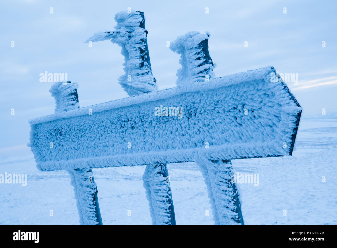 Peak District, UK. 24th January 2013. 24th January 2013. Sub-zero conditions continue across the UK as shown by Stock Photo