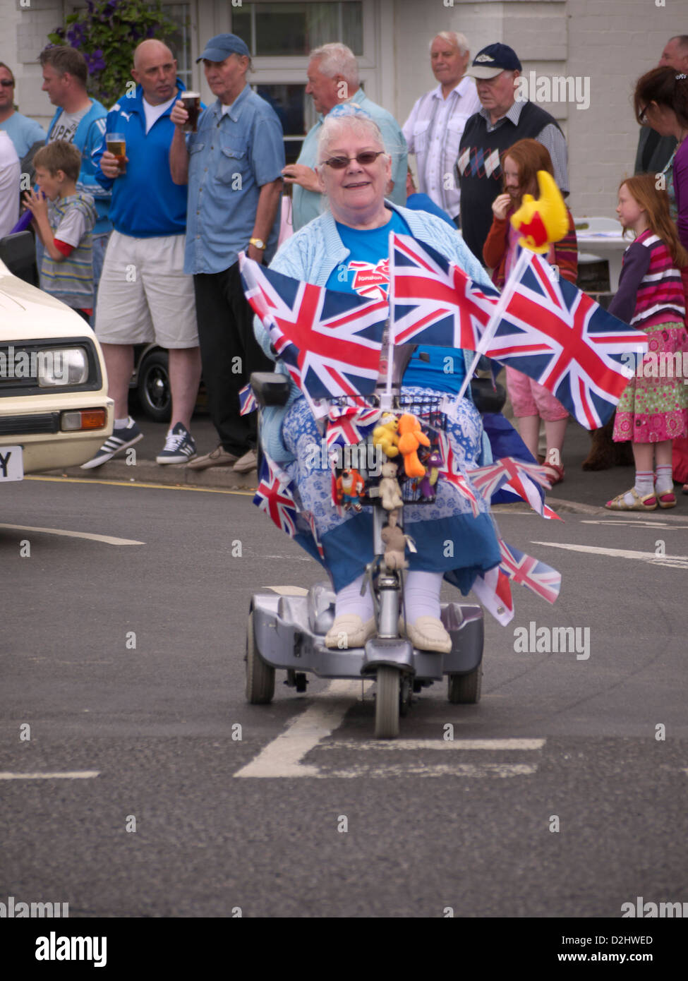 part of Sutton on Sea carnival parade august 2012 - Stock Image