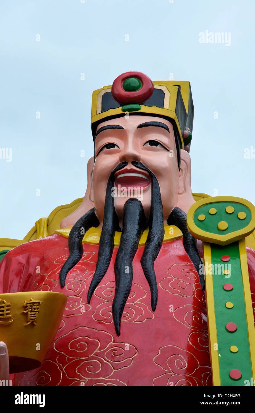 Cai Shen: Chinese god of prosperity and wealth; popular around Chinese (Lunar) New Year celebrations - Stock Image