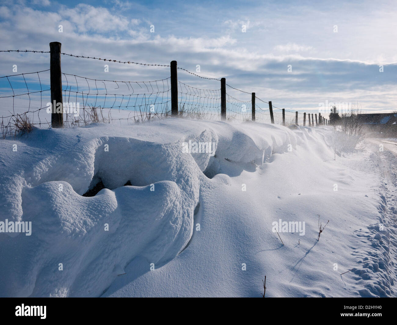 Snowdrift, England, UK. - Stock Image