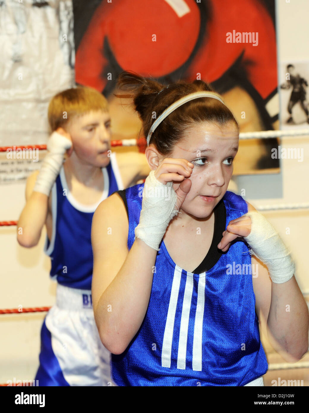 Boxing Club South Yorkshire UK - Stock Image