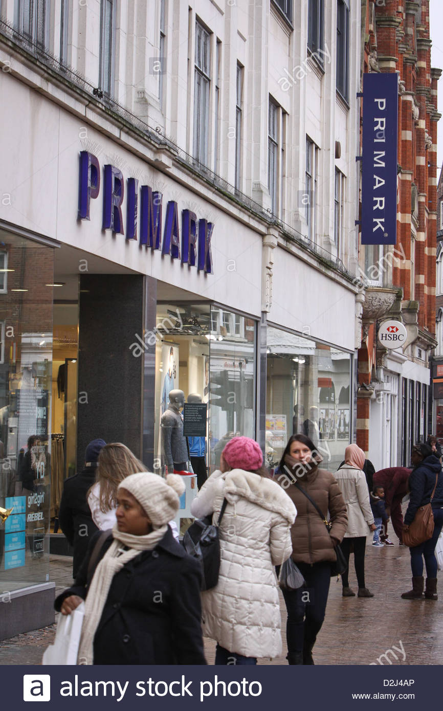 A Primark store on High Street, Bromley - Stock Image