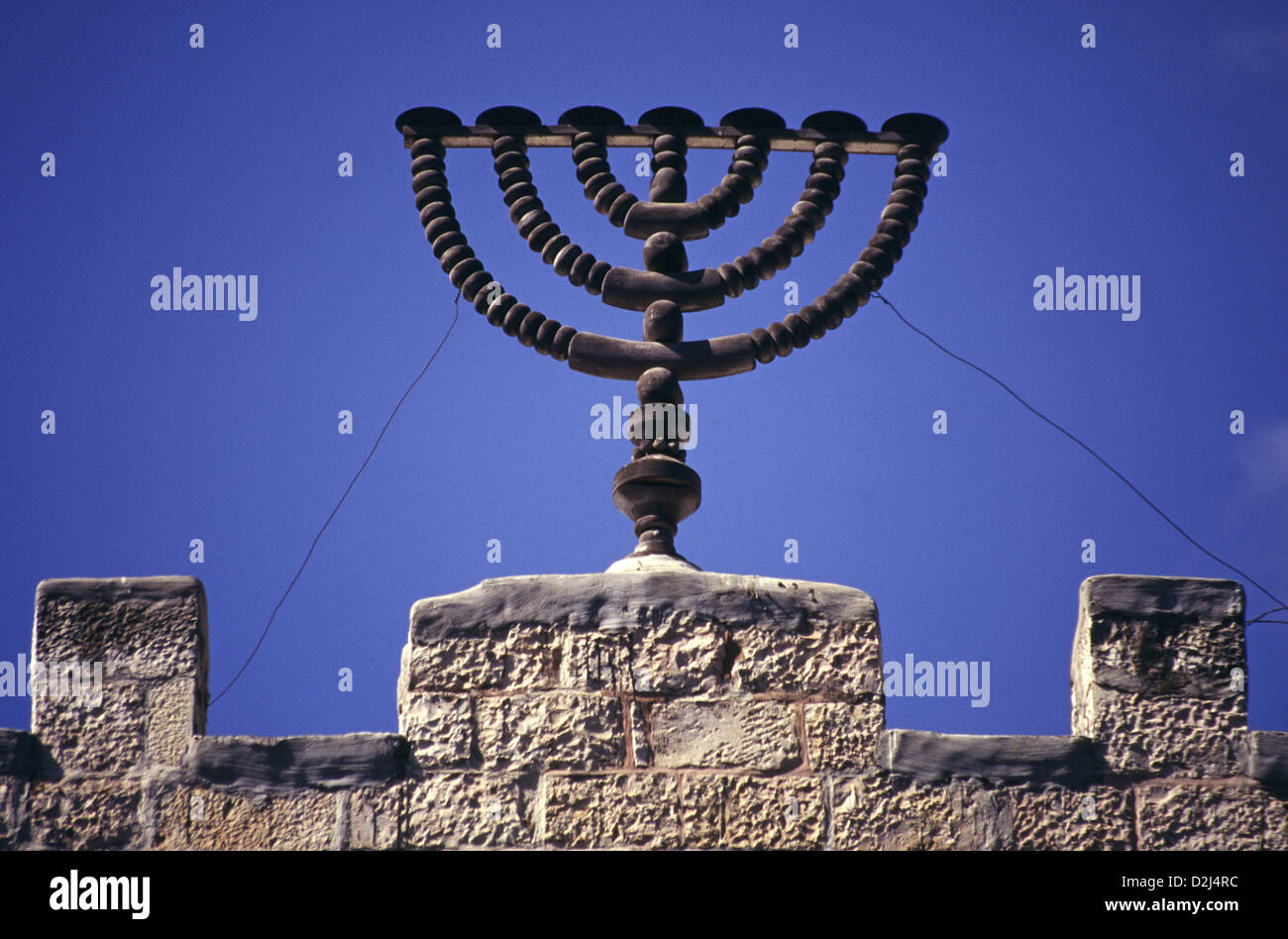 The Menorah A Seven Branched Candelabra One Of The Symbols Of Stock