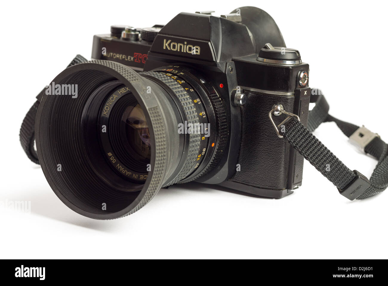 Analogue SLR (Konika Autoreflex TC, in Japan known as ACOM-1 SLR) which was built between 1976 and 1982. - Stock Image