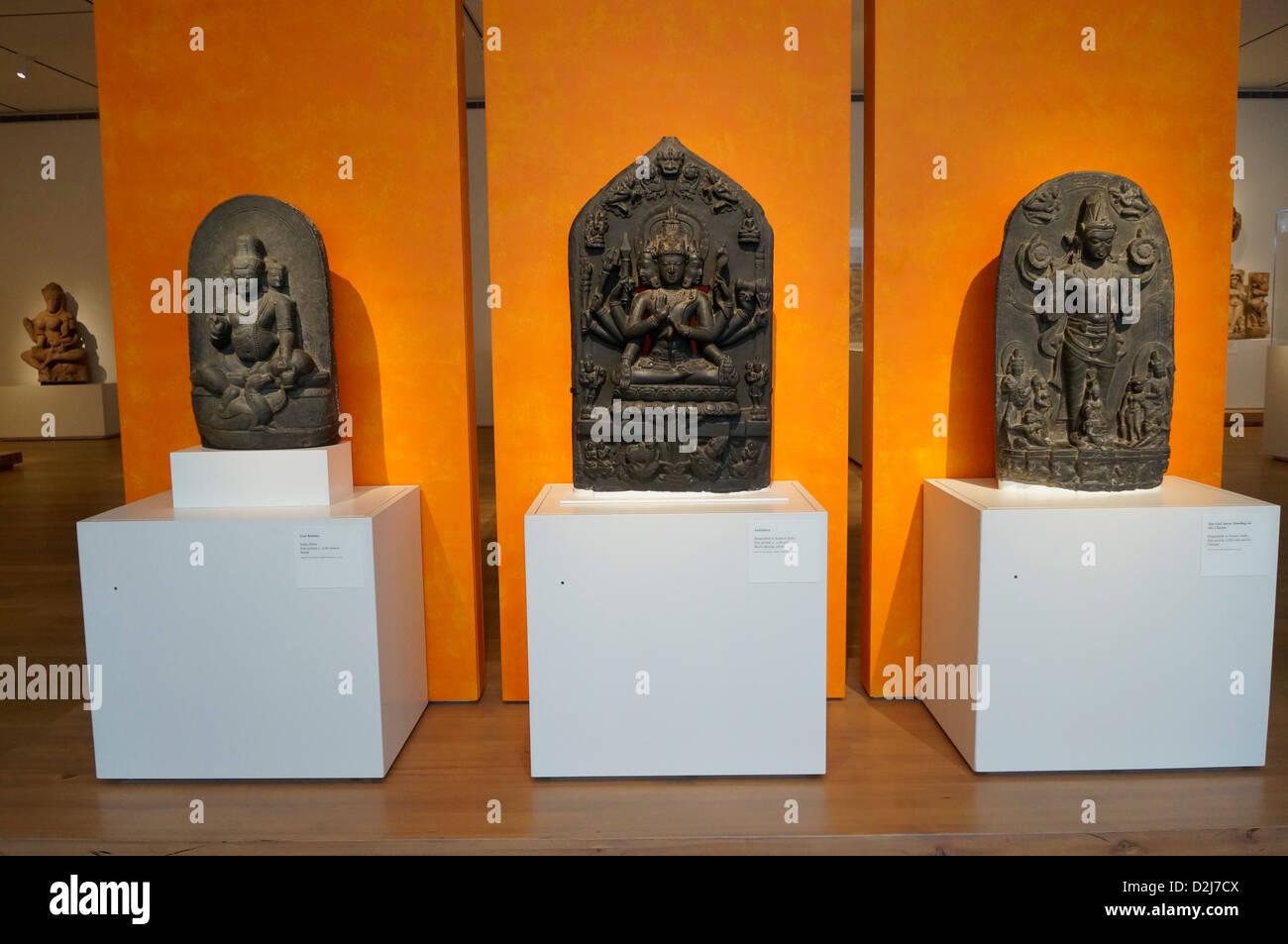 Ancient sculptures of Indian Hindu gods - Stock Image