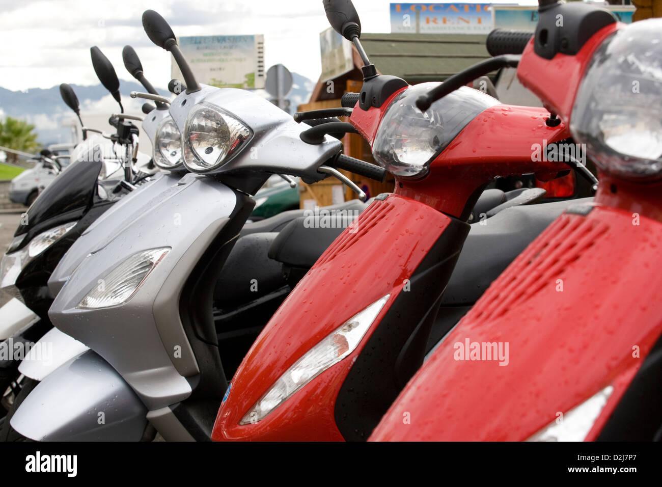 Corsica: Ajaccio - scooters - Stock Image