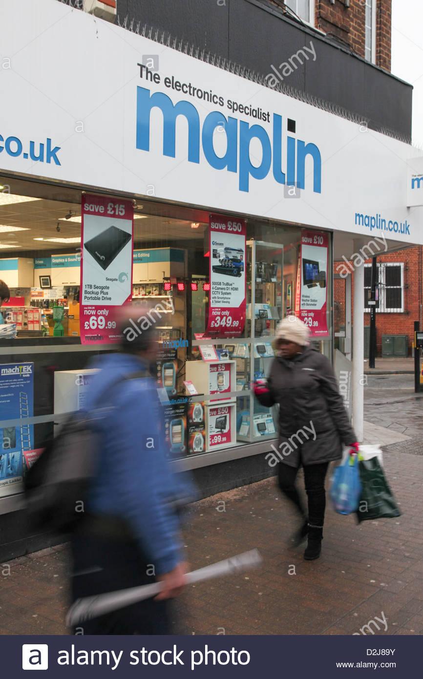 A Maplin store - Stock Image