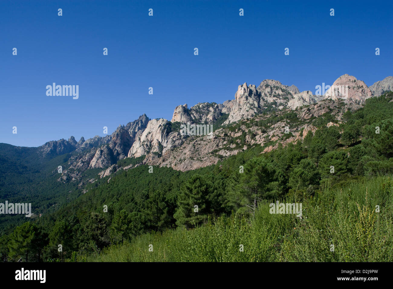 Corsica: Aiguilles de Bavella Stock Photo