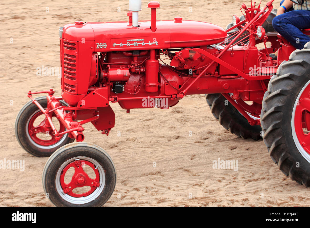 international harvester farmall 200 antique tractor stock photo