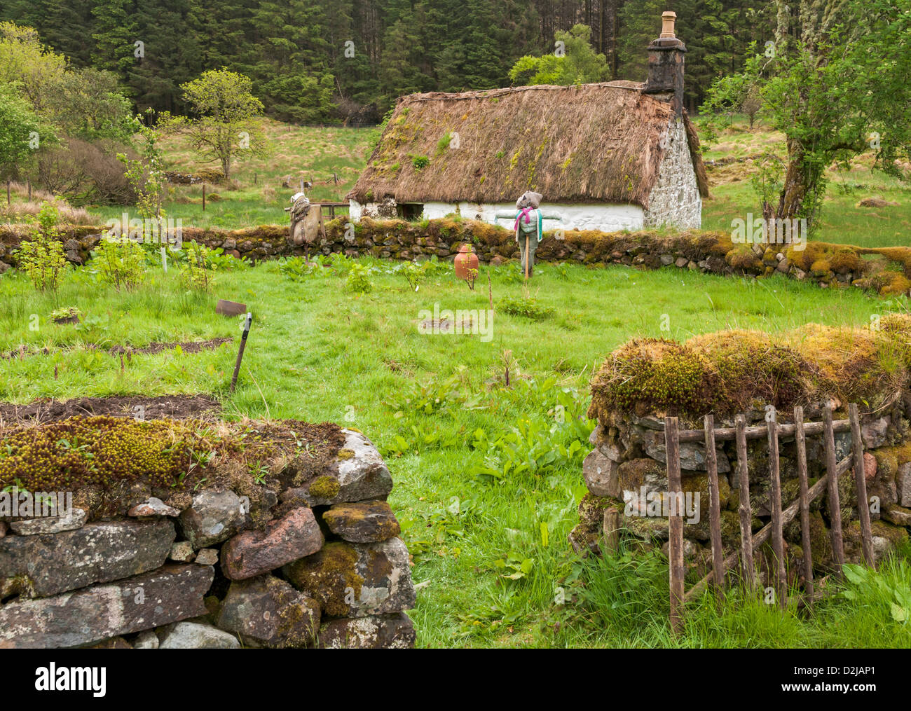 Scotland, Auchindrain Township Open Air Museum - Stock Image