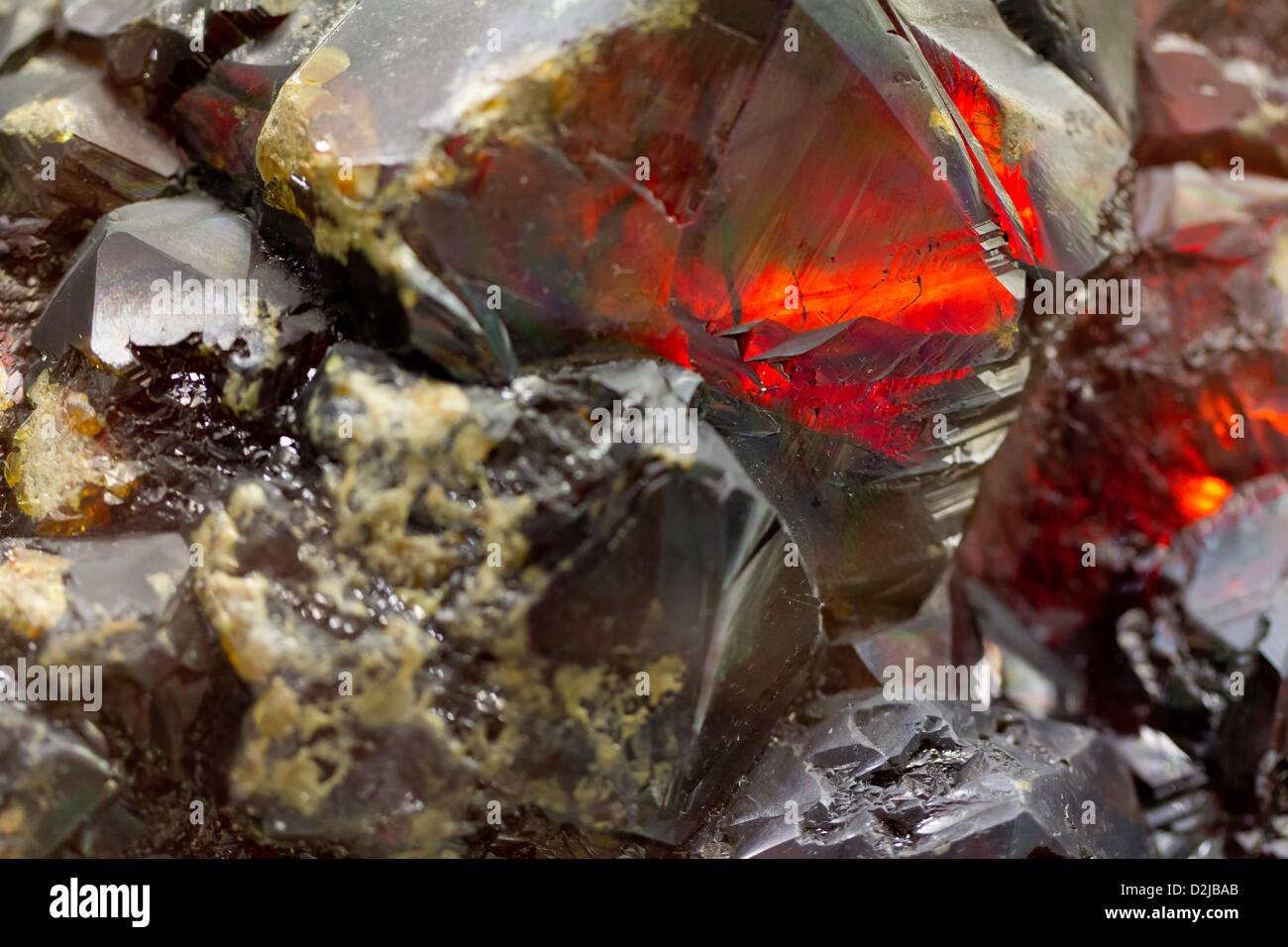 A sphalerite stone is on display at the Mineralogical Collection of the Berlin institute of Technology (TU Berlin) - Stock Image