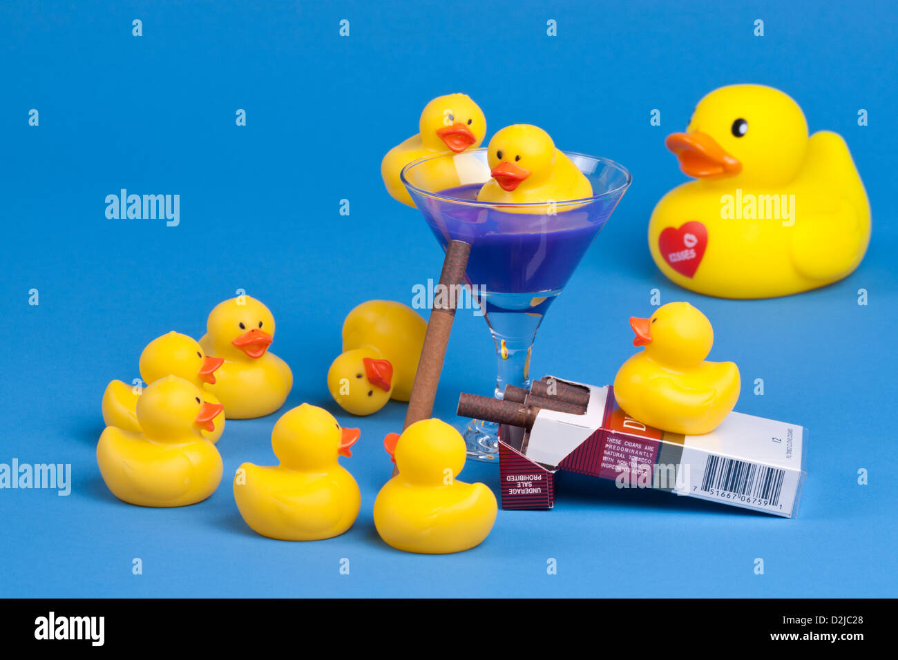 Rubber Ducky Humor Stock Photos Images Natural Duck Yellow Ducks Partying With Cigars And Alcohol Image