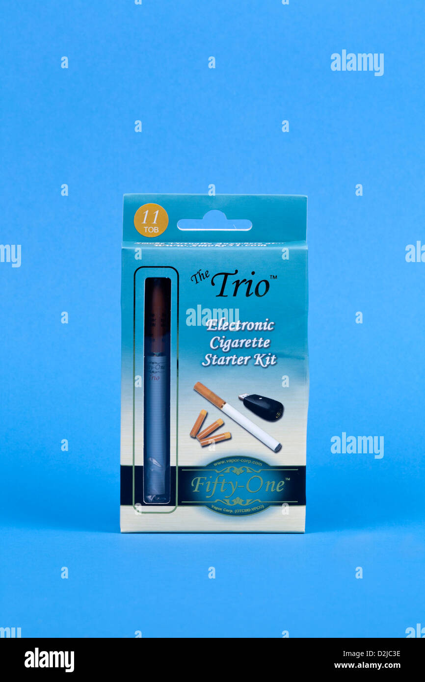 Electronic cigarette package. - Stock Image