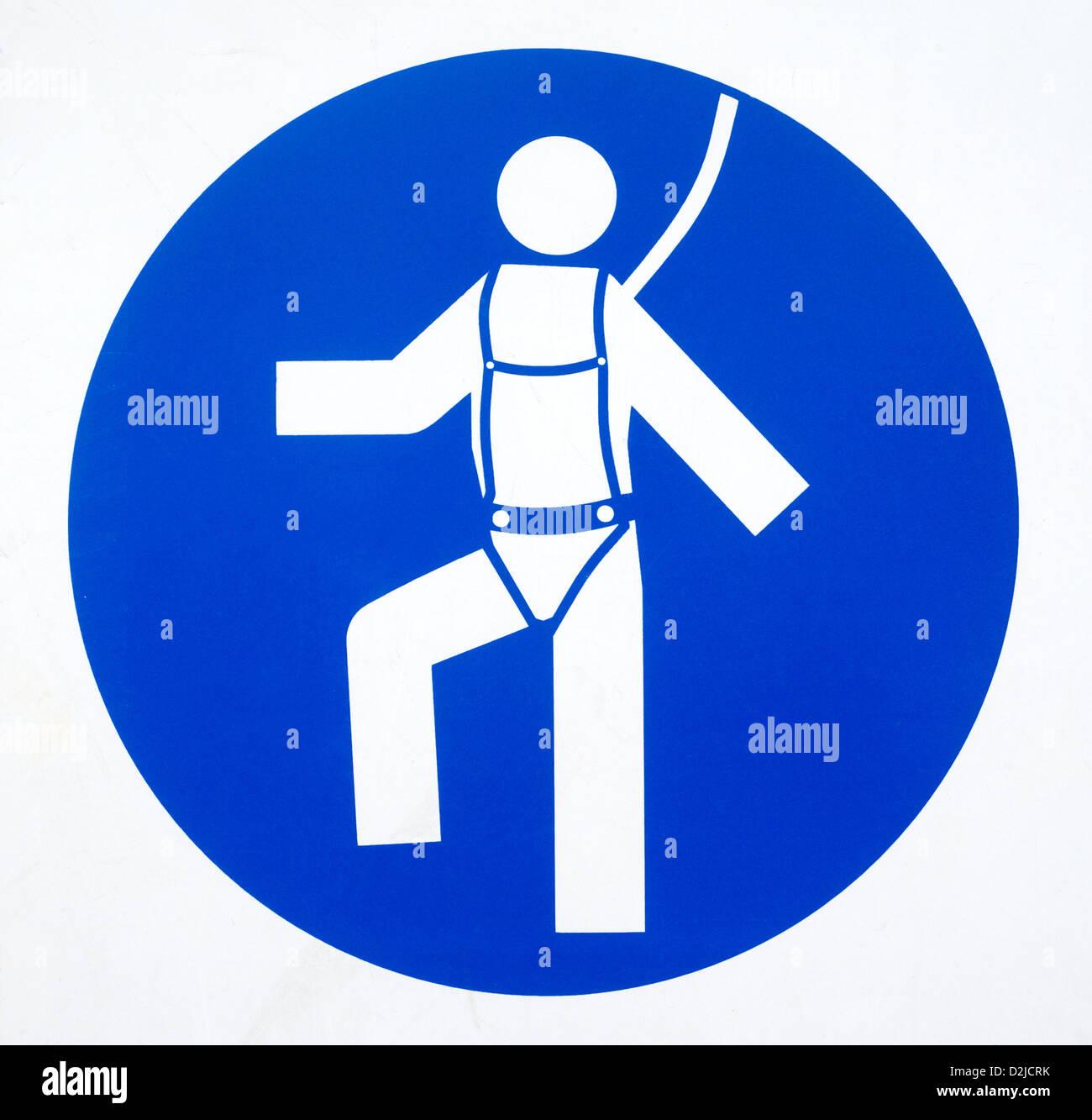 Genoa, Italy, mandatory signs harness create - Stock Image