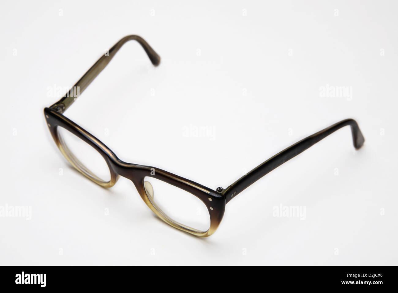 Plastic eyeglasses circa 1960's - Stock Image