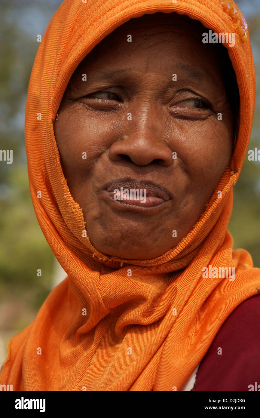 a gili woman just smiling Stock Photo