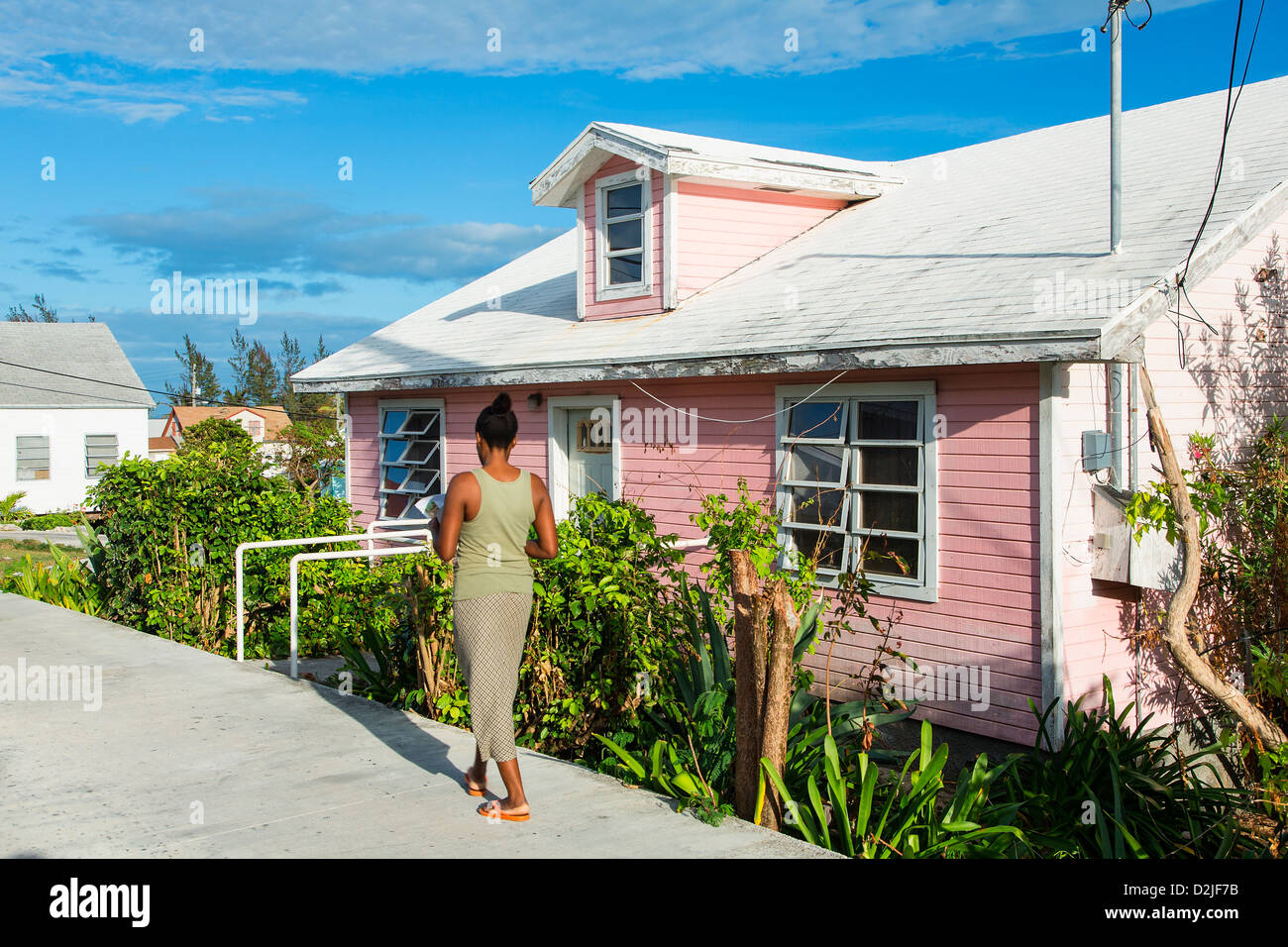 Bahamas, Eleuthera Island, Current Village - Stock Image