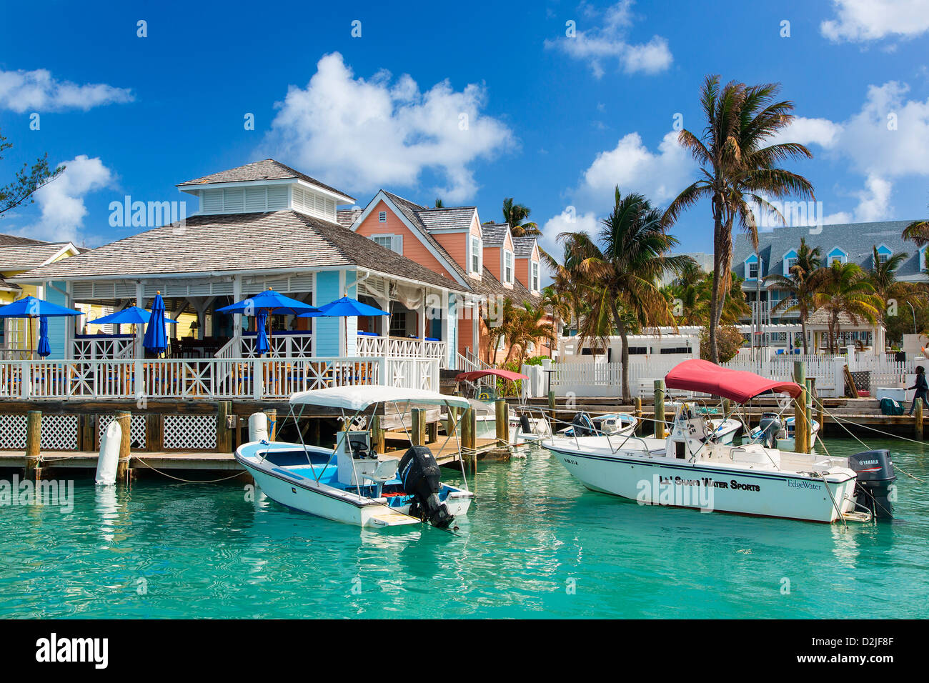 Caribbean bahamas harbor island dunmore town stock photo for Nassau fishing charters