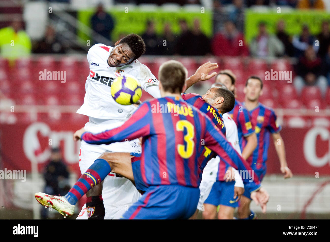 Seville, Spain, the game Sevilla FC against FC Barcelona at the Copa del Rey - Stock Image