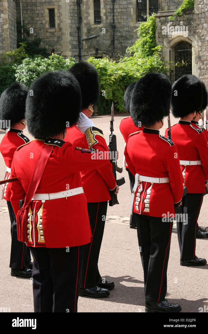 The Sergeant Major Gives the salute on parade - Stock Image