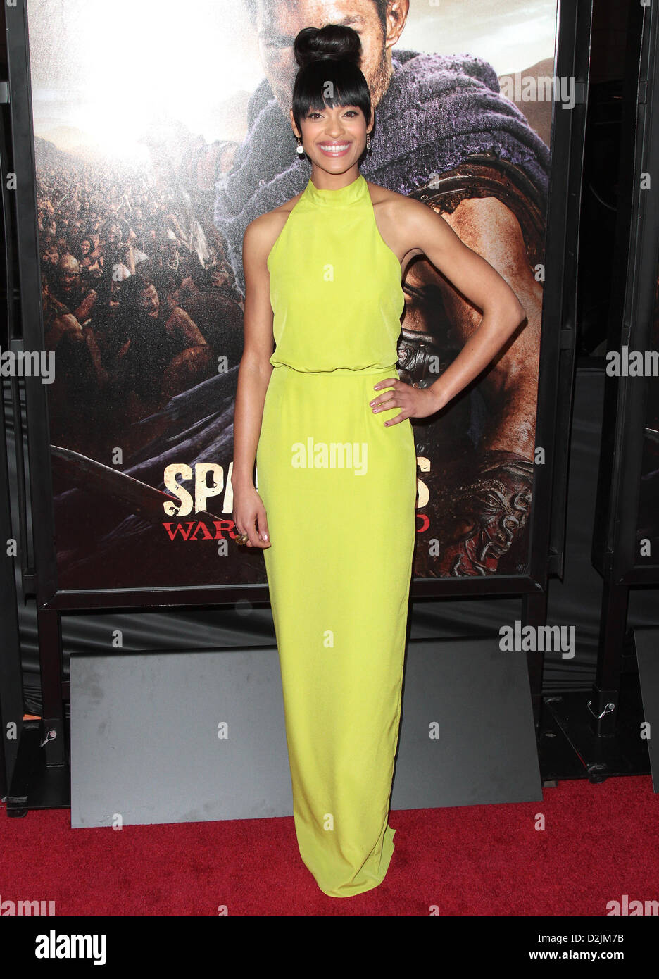 CYNTHIA ADDAI-ROBINSON PREMIERE OF SPARTACUS: WAR OF THE DAMNED LOS ANGELES CALIFORNIA USA 22 January 2013 Stock Photo