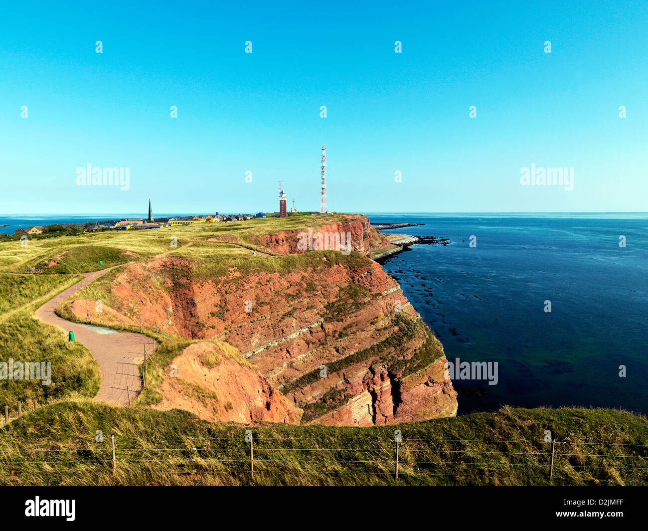 Helgoland, Germany, the cliffs on the west side of the island of Helgoland Stock Photo