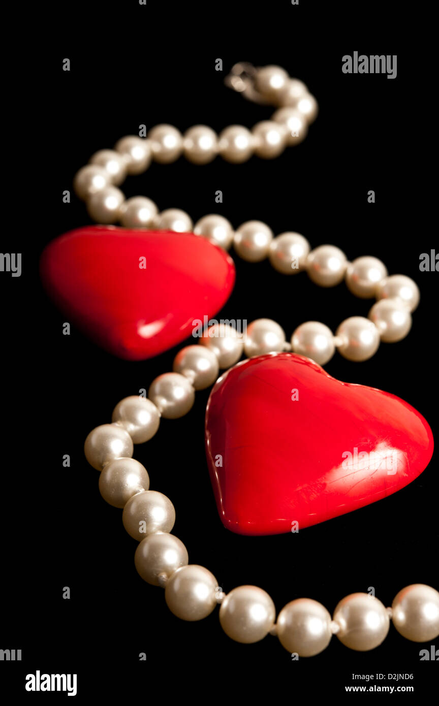 pearls necklace - Stock Image